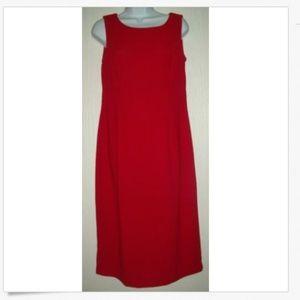 8 Red Sleeveless Shift Dress